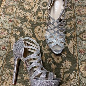 Women's platform evening shoes